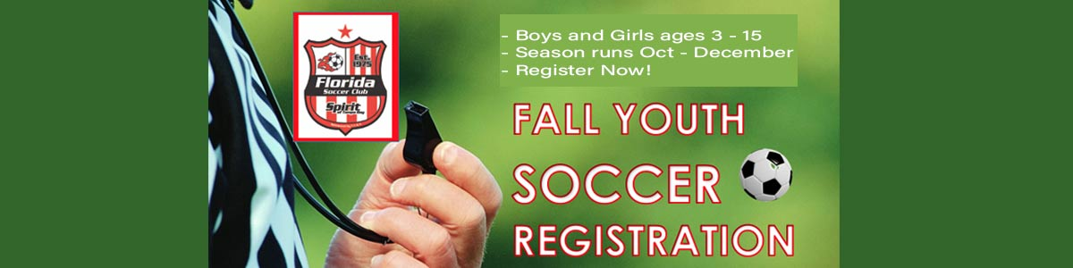 Fall 2019 Recreational Soccer Sign ups Now!