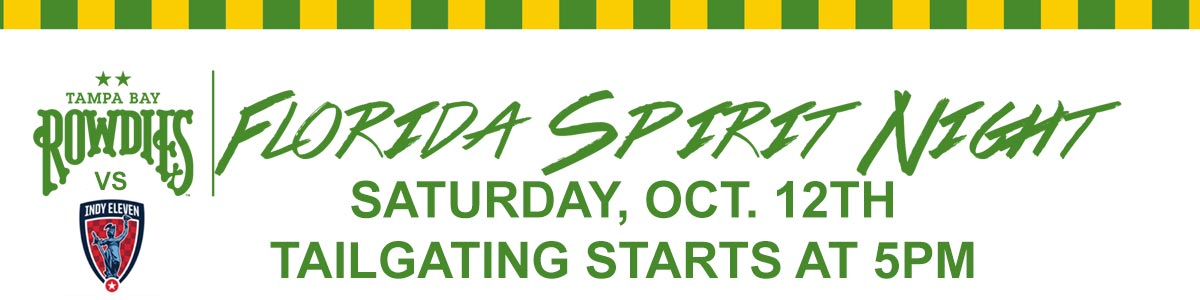 Oct. 12th Spirit Night and Tailgate at Rowdies!