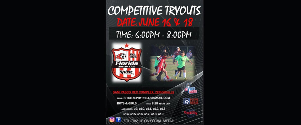 Zephyrhills Tryouts to be held June 16th & 18th